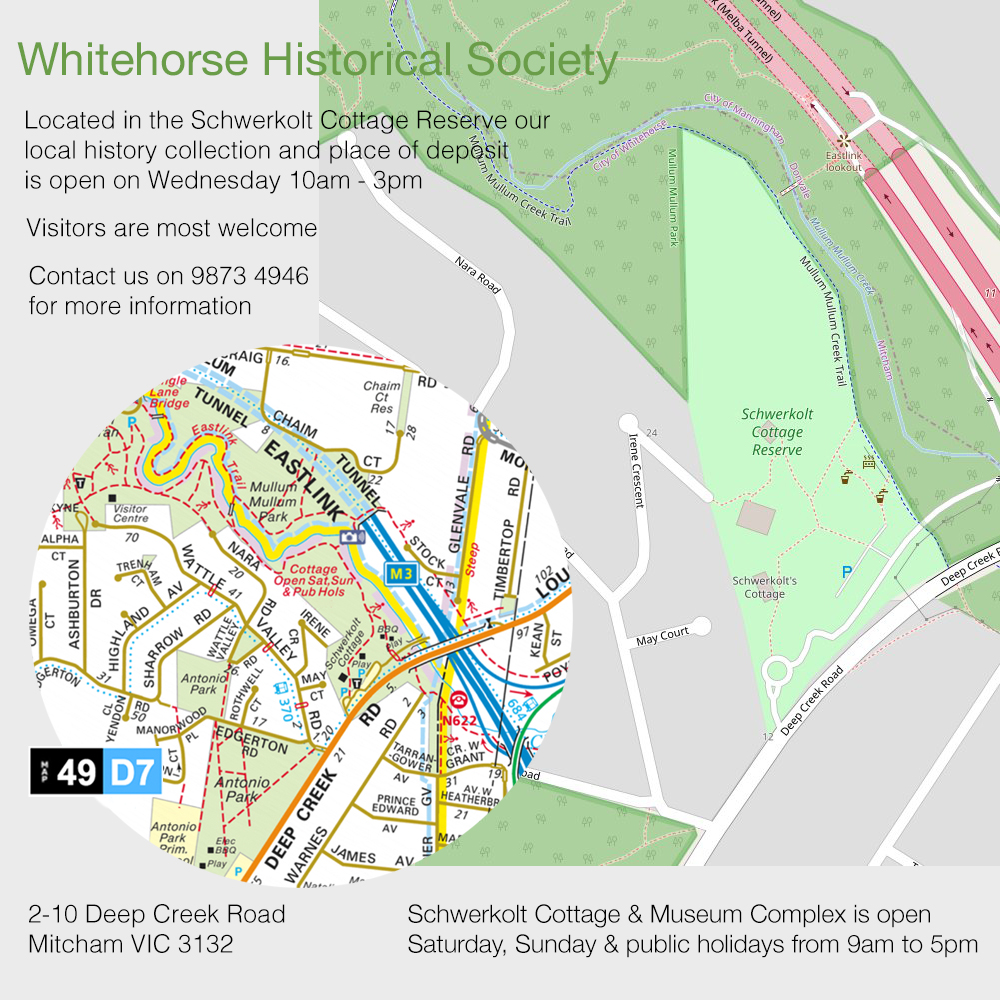 Map showing location of Whitehorse Historical Society